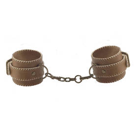Ouch - Brown, Leather Cuffs for hands - Bondage - 35171 - 1