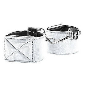 Ouch - Reversible Ankle Cuffs, valkoinen - Bondage - 36153 - 1